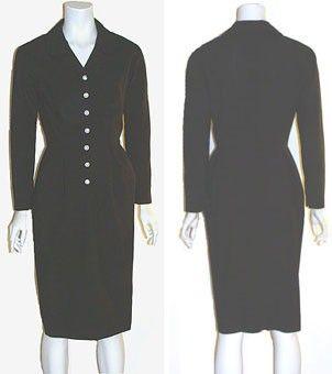 1940s Vintage Gabardine Dress. Loretta's final scene outfit?