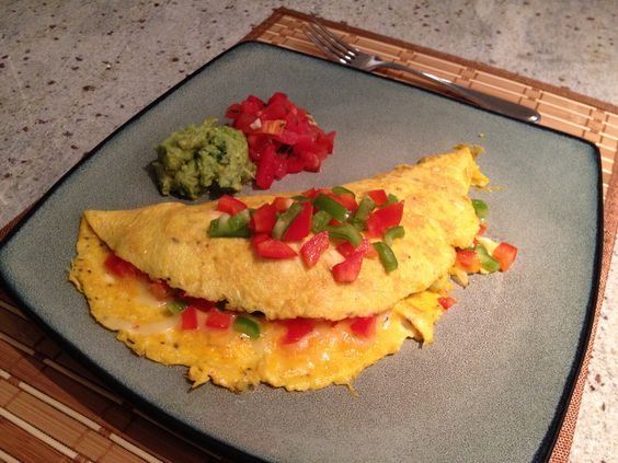 Omelettes, Guacamole and Salsa on Pinterest