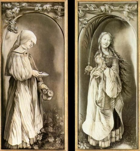 St. Elizabeth and a Saint Woman with Palm - Matthias Grünewald