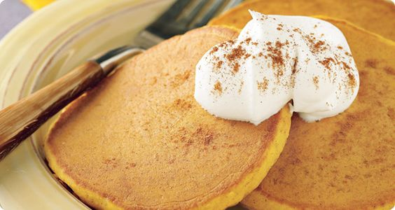 Pumpkin Pancakes recipe. Yum!!! Perfect for fall=)