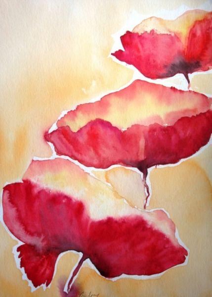 DESSIN fleurs couleur aquarelle eau Fleurs Aquarelle  - fleurs 2