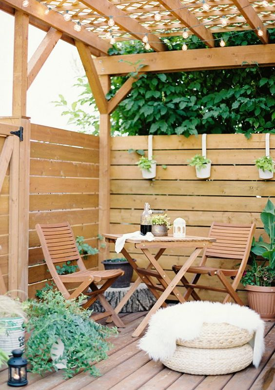 Ideas para patios jardin y terrazas pinterest dulce for Decorar patio economico