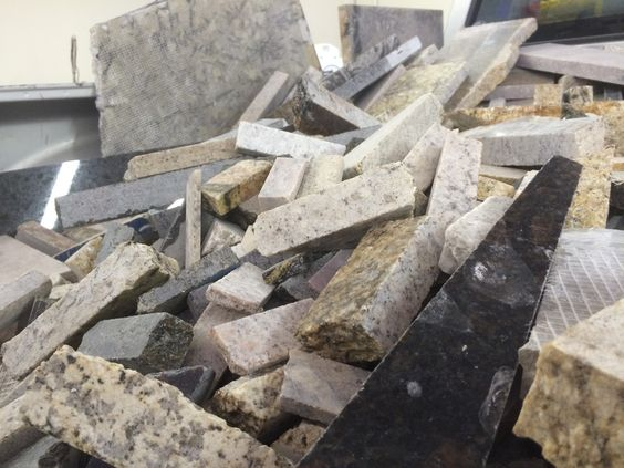Step 1: We collect the granite waste from local fabricators. Here we ...