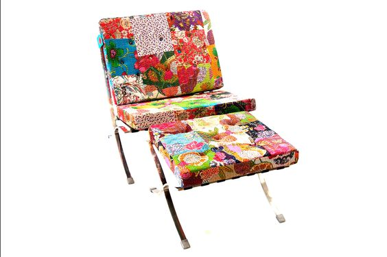 Kantha Modern Chair + Ottoman – FleaPop – Buy and sell home decor, furniture and antiques