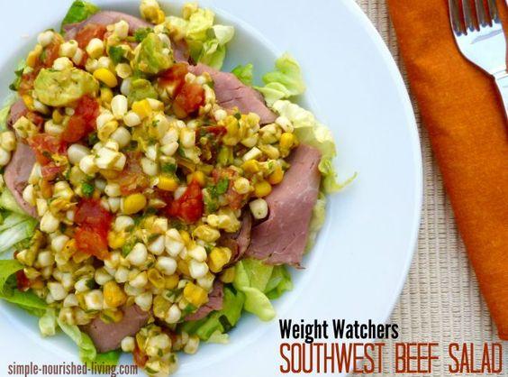 Aligerado suroeste Receta Ensalada de carne de vaca