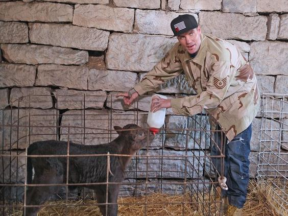 Vanilla Ice feeding the cutest calf ever >> http://www.diynetwork.com/tv-shows/ice-makes-some-four-footed-friends-in-amish-country/pictures/index.html?soc=pinterest: Cutest Calf, Vallina Ice, Amish Country, Footed Friends, Ice Feeding, Vanilla Ice, Diy Network, Country Pictures