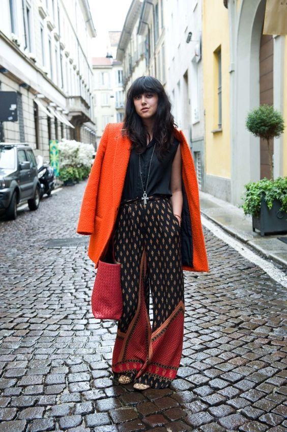 #Palazzo #Print #Paisley #StreetStyle #Boho #Orange #Style #Fashion #BiographyInspiration