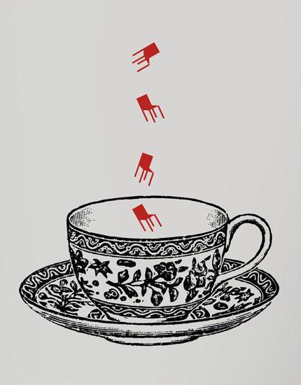 Adesivo de parede: chá de cadeira: GECKO Adesivos Decorativos