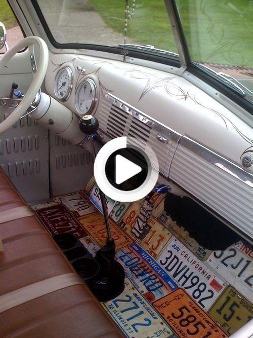 Coole Idee Auf Dem Boden Fur Vw Bus Nummernschilder Nizza Hotrods