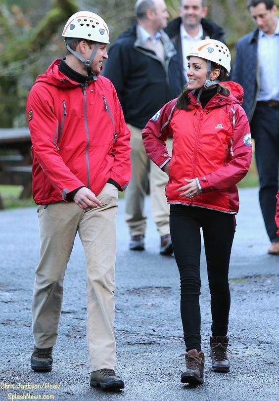 whatkatewore:  Duke and Duchess of Cambridge in safety gear for their abseiling and wall climbing activities at the Towers Residential Outdoor Education Centre, which provides outdoor activities for young people, at the Snowdonia National Park, November 20, 2015
