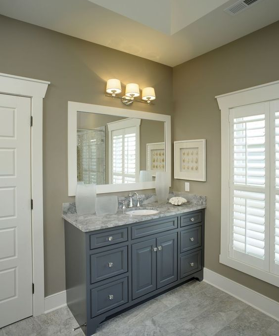 Gray bathroom vanity color for kids bathroom: