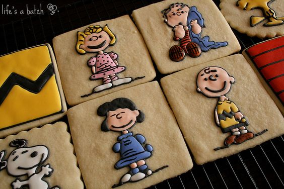 Peanuts Character Cookies, by Life's a Batch.