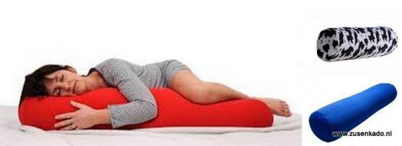 een heerlijk zwangerschaps kussen, maakt liggen en slapen aangenamer. Na de bevalling ook te gebruiken als voedingskussen