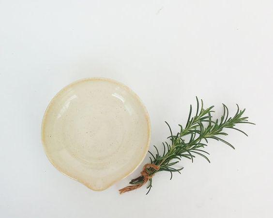 Ceramic tea bag holder  Small ceramic bowl by NoykiCeramics