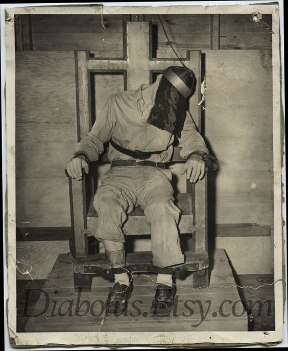 Vintage Photo of Man in Electric Chair – Electirc Chair