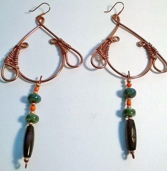 """""""Africana"""" Copper earring - TRJ"""