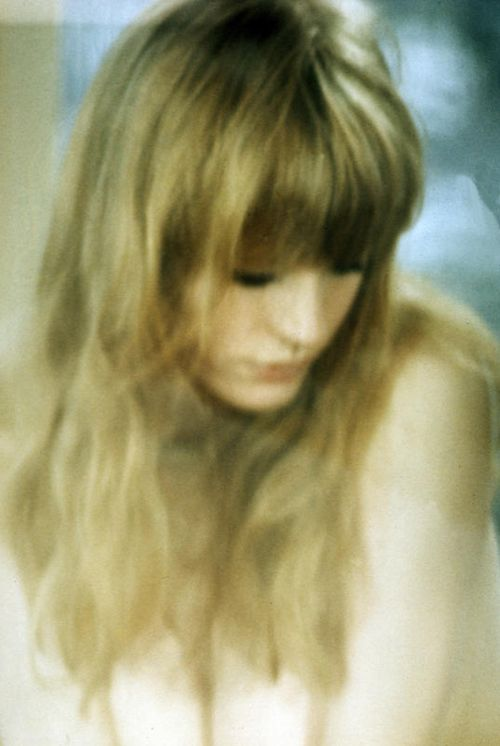 "Marianne Faithfull on set of ""The Girl On A Motorcycle"" 