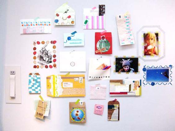 envelopes adorned w/ tapes