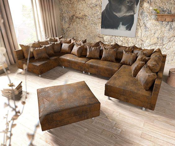Wohnlandschaft braun, »SO 7100«, SET ONE BY MUSTERRING Jetzt - wohnzimmer design braun