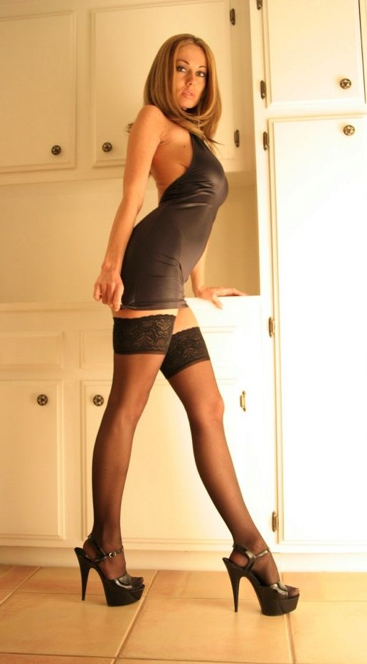 Mini models in pantyhose