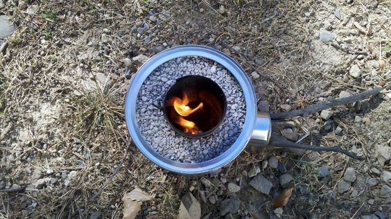 DIY Portable Tin Can Rocket Stove   The Owner-Builder Network