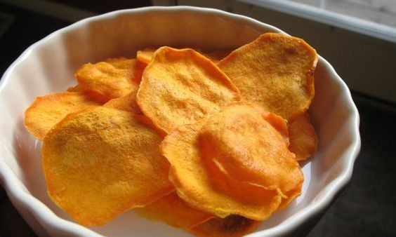 Microwave Sweet Potato Chips!