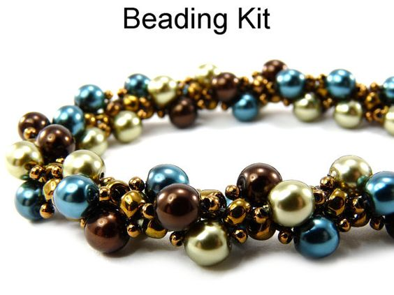 Necklace Beading Kit Pearl Necklace Jewelry by SimpleBeadKits