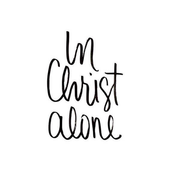 In Christ alone my hope is found,He is my light, my strength, my song;this Cornerstone, this solid Ground,firm through the fiercest drought and storm.What heights of love, what depths of peace,when fears are stilled, when strivings cease!My Comforter, my All in All,here in the love of Christ I stand. || Claire Neill