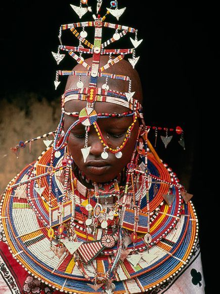 Masai Wedding Day, Kenya. Photo Carol Beckwith and Angela Fisher.