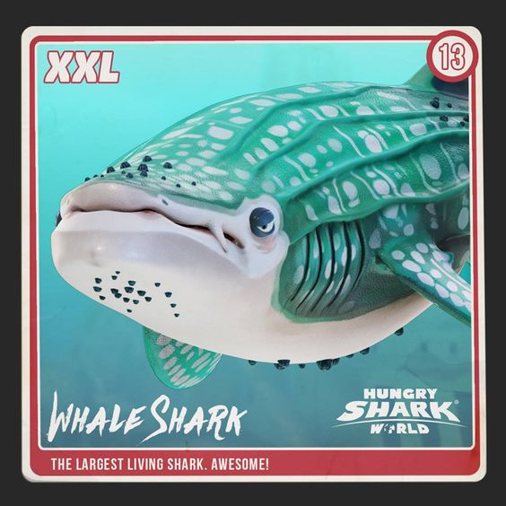 He's the most invited member to any party, as he's always such a...... WHALE of a time! Ok we'll leave. Your #Sharkarium collection is nearly complete!