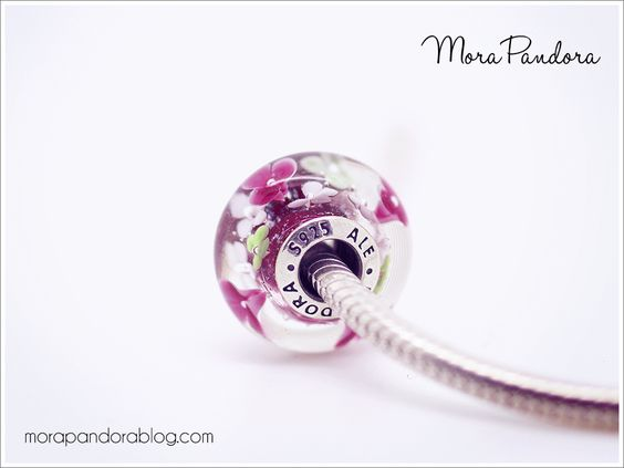 Pandora Flower Garden murano, side view!