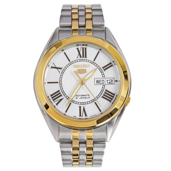 Chronograph-Divers.com - Seiko 5 Mens 21 Jewels Automatic Two Tone Watch SNKL36K1 SNKL36, $102.00 (http://www.chronograph-divers.com/snkl36k1/)