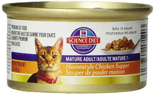 Hill's Science Diet Homestyle 24-Pack Chicken Supper for Mature Adult Cats, 2.9-Ounce -- Find out more about the great product at the image link.