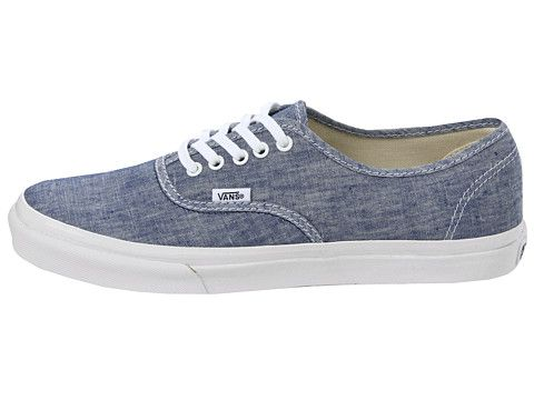 Chambray Vans - my next shoe purchase. I caved in.