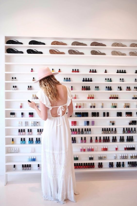 With plenty of polishes to choose from, plus a charming ambience, plan your girls' day out at Olive and June on Montana Avenue. #nailsalon
