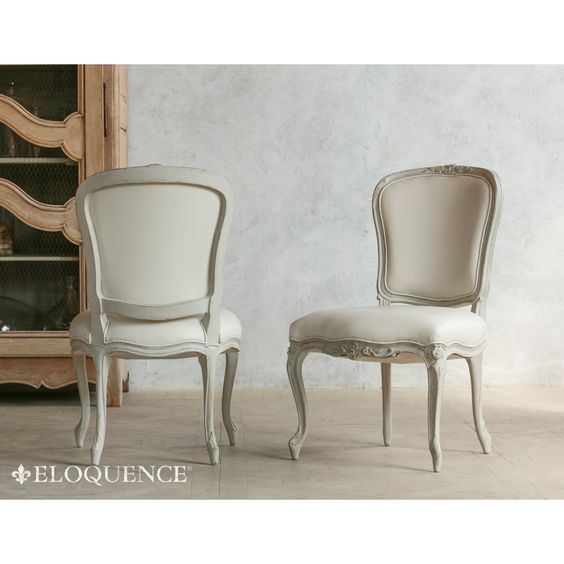 Eloquence Colette Dining Chair in Frost White Leather | Favorite ...