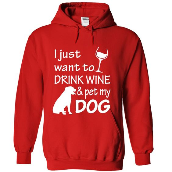 I want to drink wine with my dog pet
