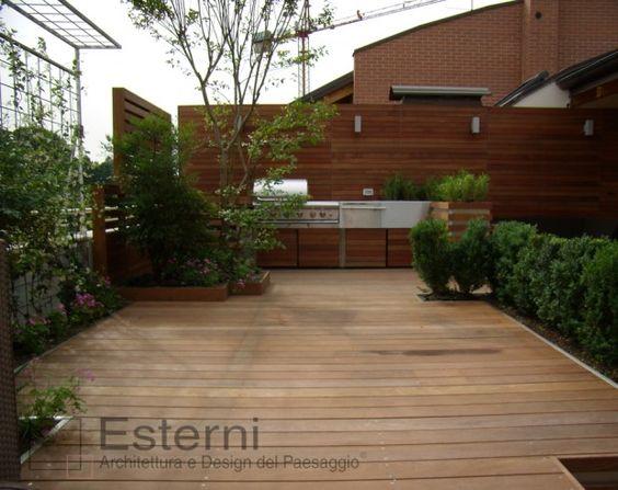 Cucine da esterno : cucina da esterno, in legno e acciaio ...