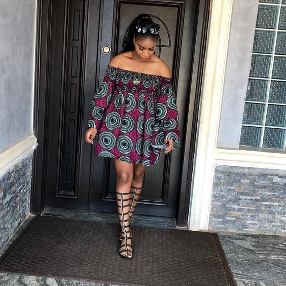 20 Best Ankara Short Gowns For Ladies (2018)