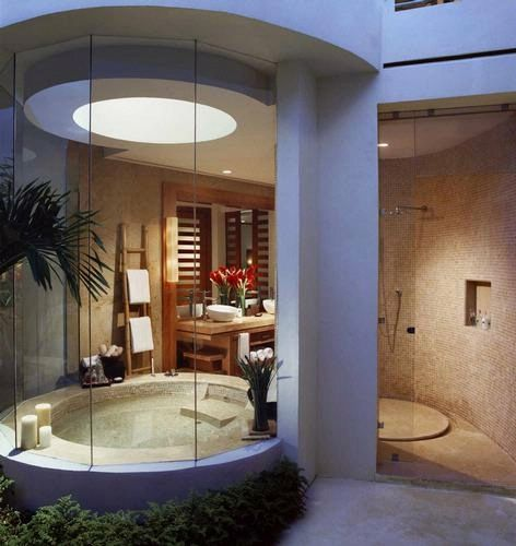 This is what my bathroom looked like @ Rosewood Mayakoba...