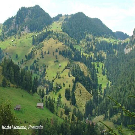 Beautiful Europe romanian landscapes Rosia Montana Transylvania Eastern Europe