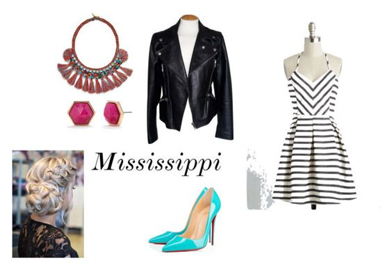 """""""Mississippi"""" by mgilde ❤ liked on Polyvore featuring Alexander McQueen, Tory Burch, Trina Turk and Christian Louboutin"""