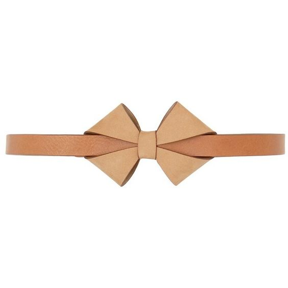 SEE BY CHLOÉ Belt With Bow ❤ liked on Polyvore