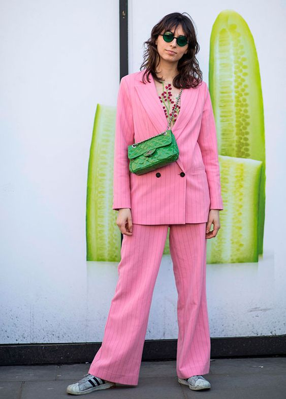 it girl - conjuntinho blazer - color blocking - verão - street style