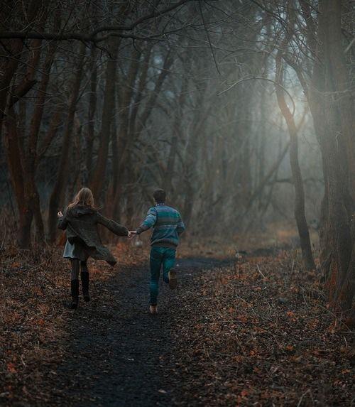marlene and Sirius  running around the forbidden forest, 1978
