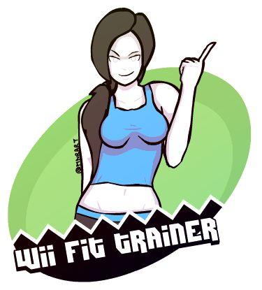 Wii Fit trainer artwork by Morten Nygaard Rasmussen Art