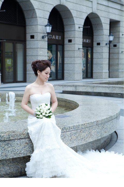 my wedding dress for photo shoot