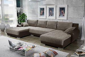 Couchgarnitur Ecksofa Eckcouch Sofagarnitur Sofa LEON 8 mit Schlaffunktion | eBay