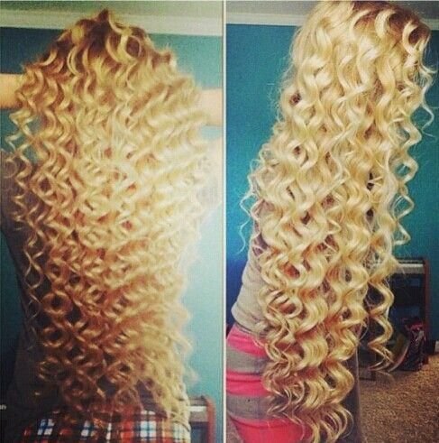 My hair would fall flat in five minutes after doing this, but it's beautiful!