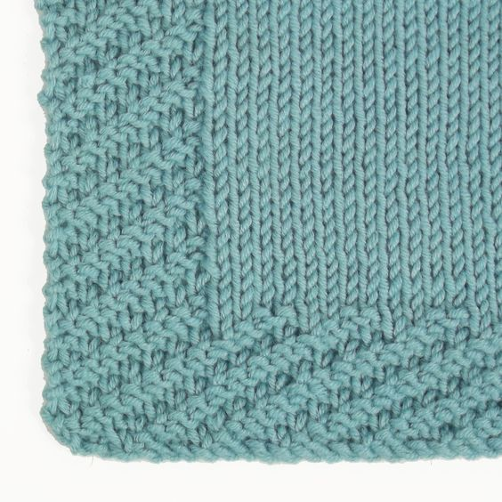 Knitting Edges And Borders : The oblique rib stitch is a great alternative to garter